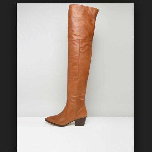 e011c095091 Aldo Shoes - Aldo Deedee leather otk boots in cognac - 6.5